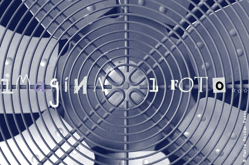 Photo of a fan, detail